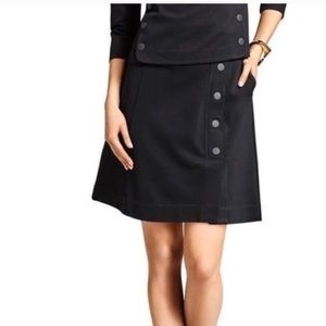 CAbi #3218 Ponte Utility Skirt in Black A-Line 6